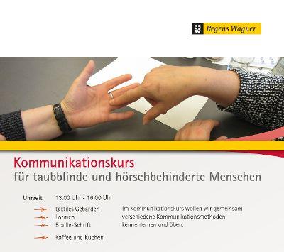 Kommunikationskurs für taubblinde und hörsehbehinderte Menschen
