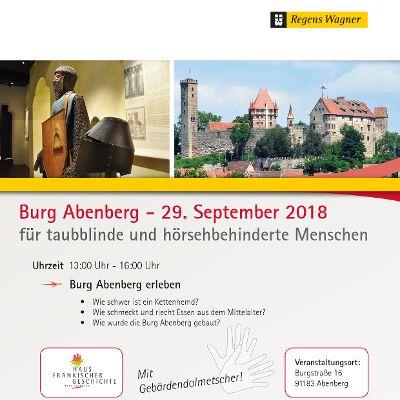 Burg Abenberg  - für taubblinde und hörsehbehinderte Menschen