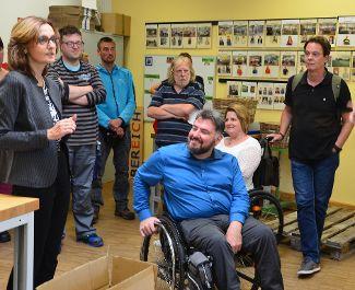 Bayerischer Behindertenbeauftragter Holger Kiesel besucht Regens Wagner Zell
